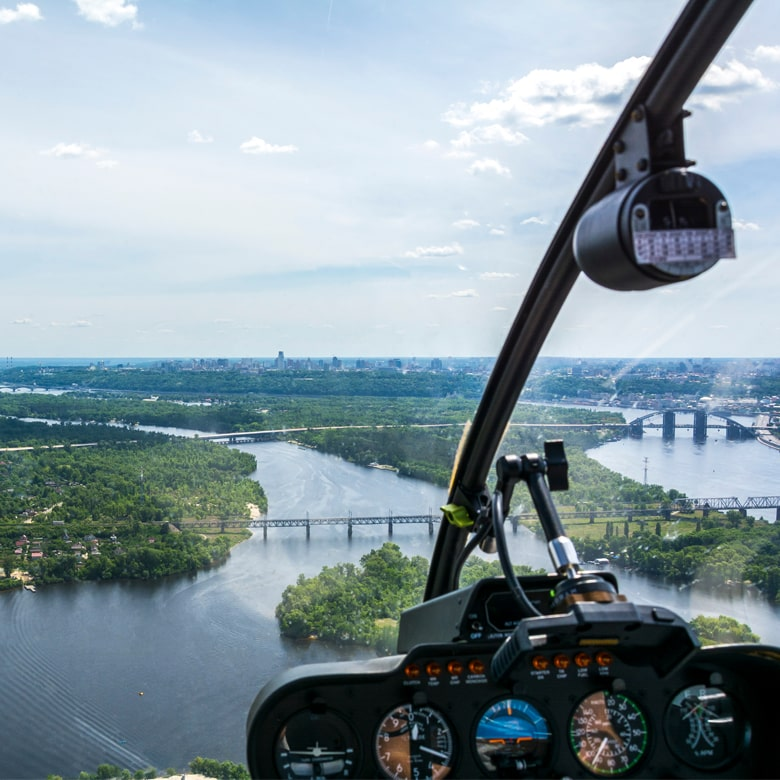 Обзорный полет на вертолете Robinson над Днепром