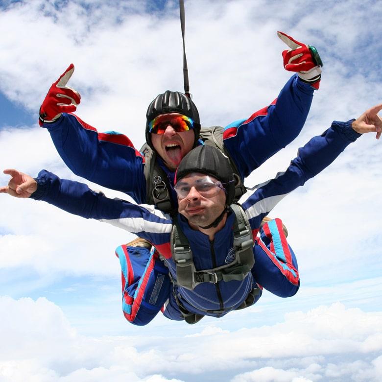 Прыжок с парашютом в тандеме с видеосьемкой
