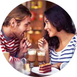 Романтическое свидание в кофейне